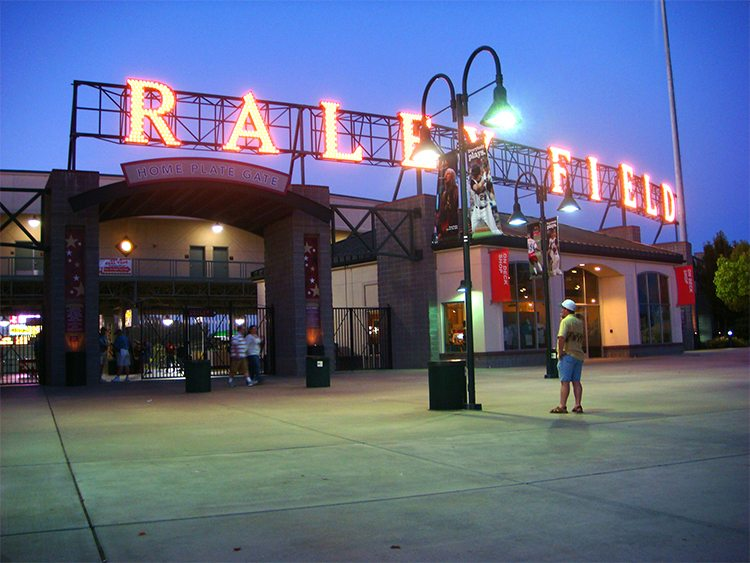 Raley Field is home to the Sacramento River Cats